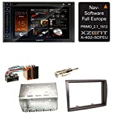 XZENT X-402 Bluetooth Digitalradio CD Navigation USB MP3 Autoradio DAB+ Einbauset für FIAT Ducato Boxer Jumper