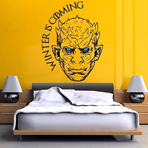 es Vinyl Wandtattoo Gamers Room Decor Nacht König Wandkunst Aufkleber White Walker Winter Kommt Aufkleber 57 * 74 cm ()
