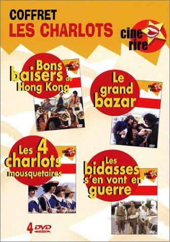 Coffret Les Charlots 4 DVD : Bons baisers de Hong-Kong / Le Grand bazar / Les Quatre Charlots mousquetaires / Les Bidasses s'en vont en