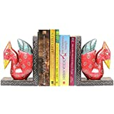 APKAMART Handcrafted Swan Bookend - Set of 2 - Book Holders cum Decoratives for Shelves, Table Decor, Home Decor and Gifts