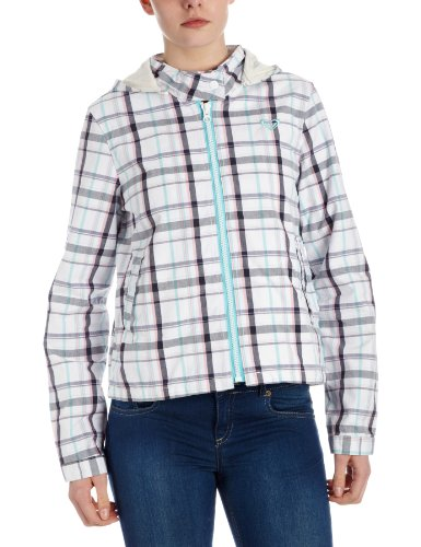 Roxy Damen Jacke Ocean Side Spring Plaid_Antique White