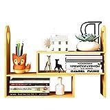 DULPLAY Einfache Schreibtisch Bücherschrank,Eiche Moderne Öffnen sie shelfstorage Rack Multipurpose Möbel Für anlage Garten Badezimmer Wohnzimmer-A 42x15x45cm(17x6x18inch)