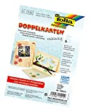 Glorex GmbH Folia 150511 - Doppelkarten, ca. 10,5 x 15 cm, je 5 Karten (220 g/qm), Kuverts und Einlagen, strohgelb