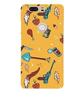 Fuson Designer Back Case Cover for Huawei Honor V8 (imaginary Apple Chicken Leg Piece Gun Arrow)