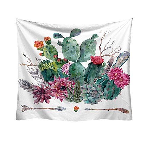 Fliyeong Cactus Decor Tapisserie Wandbehang Decor Art Home Decoration Schlafzimmer Wohnzimmer Wohnheim Wandbehänge Tapisserien Strand Werfen Tischläufer Tuch F Langlebig und nützlich