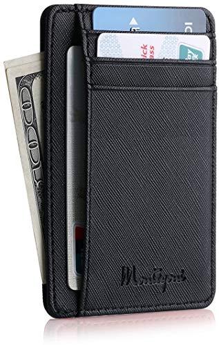 Montegoni Kreditkartenetui mit RFID Schutz   Kartenhalter, Kartenetui, Brieftasche, Mini Geldbörse, Slim Wallet