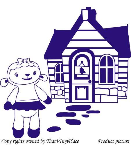 Assemblea e lampada a parete Sticker 60cm x 60cm colore blu zaffiro Disney, medico, Camera da letto, stanza dei bambini Adesivi, vinile auto, Windows e adesivo parete, Windows Art, decalcomanie, Ornamento vinile ThatVinylPlace