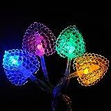lightsgo® Batteriebetrieben Powered Herzen Form-LED Lichterkette 20leds 2m 20LED 2M Mehrfarbig