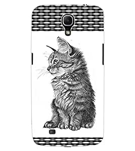 ColourCraft Cute Cat Design Back Case Cover for SAMSUNG GALAXY MEGA 6.3 I9200