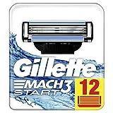 Gillette Mach3 Lames De Rasoir Pour Homme - 12Recharges