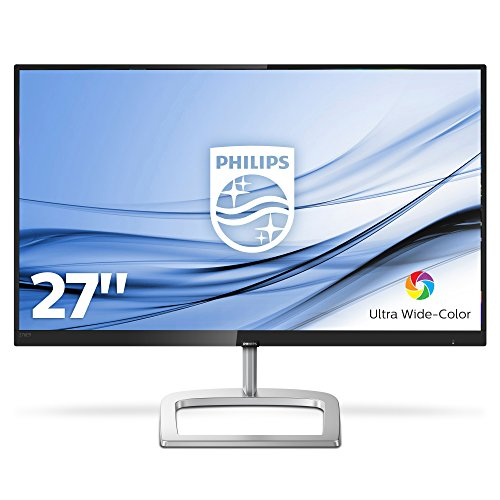 Philips 278E9QJAB/00 68 cm (27 Zoll) Curved Monitor (VGA, HDMI, DisplayPort, FHD, 4ms Reaktionszeit, 60 Hz, 1920 x 1080) schwarz Full Color Monitor