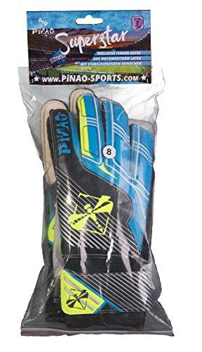 PiNAO Sports - Torwarthandschuh, Größe 8 (24009) [Fußballhandschuhe, Kinder, Fingerschutz, Fingersave]