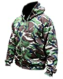 Search : Mens Hooded Full Zip Top Hoodie Military Combat Army DPM Camo Fleece Jacket New