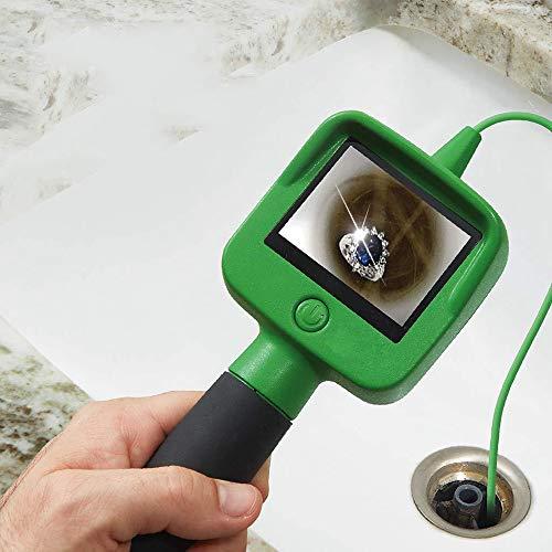 ZHX Endoscopio ispezione Camera, Handheld Home periscopio ispezione con Monitor LCD Schermo Multifunzione Impermeabile sonda Flessibile Foro Scope Camera-Verde