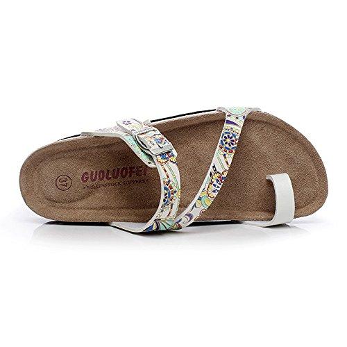 Estate Sandali Sandali dei pistoni di sughero di modo di estate Scarpe da spiaggia casuali femminili con 5 colori Colore / formato facoltativo #5