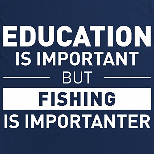 Fishing Is Important T-shirt, Uomo Blu navy