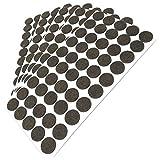 Adsamm® | 250 x Filzgleiter | Ø 20 mm | Braun | rund | 3.5 mm starke selbstklebende Filz-Möbelgleiter in Top-Qualität von Adsamm®