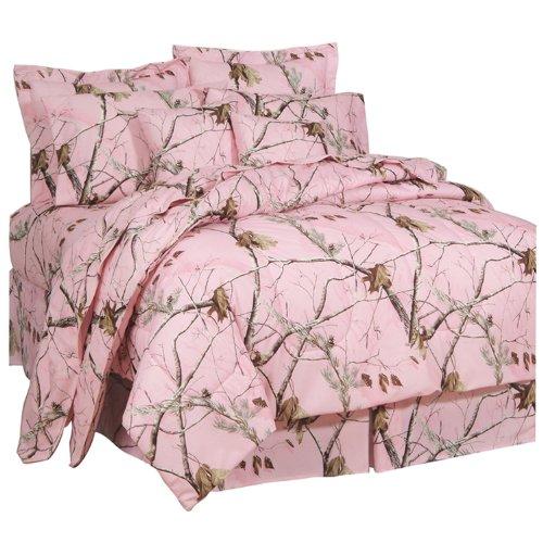 Tröster Camo Set (Realtree AP Pink Camo 6Pc Twin Schmusetuch Set und One Fenster Volant/Fall Set (Tröster, 1Bettlaken, 1Spannbettlaken, 1Kopfkissenbezug, 1Kissenbezug, 1Bettvolant, 1Querbehang/Fall Set) sparen Big auf Bündelung.)