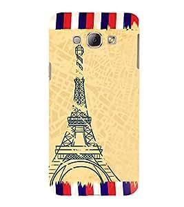 Fiobs Designer Back Case Cover for Samsung Galaxy A8 (2015) :: Samsung Galaxy A8 Duos (2015) :: Samsung Galaxy A8 A800F A800Y (Eiffel Tower Art Symbol Paris)