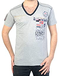 Geographical Norway T-Shirt Jeep SS Men Grey