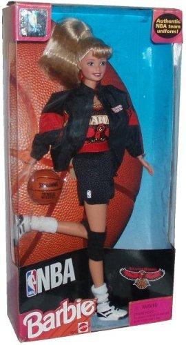 Barbie 1998 National Basketball Association NBA 12 Inch Tall Doll - Atlanta Hawks Barbie with Authentic NBA Team Uniform, Jacket, Shoes, Socks, Basketball and Hairbrush (Authentic Basketball)