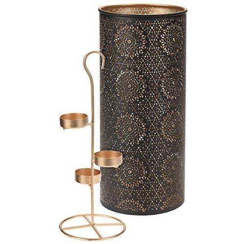 Teelichthalter 3 Teelichter ORIENTAL gold Kerzenhalter, gebraucht gebraucht kaufen  Wird an jeden Ort in Deutschland