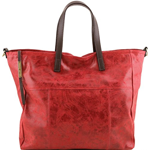Tuscany Leather Annie - TL SMART Shopping Tasche im Antikeffekt - TL141552 (Rot) Rot