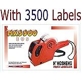 Genric Hongsheng MX-5500 Printer Label Gun 8 Digits with Labels (Multicolour, 3500)