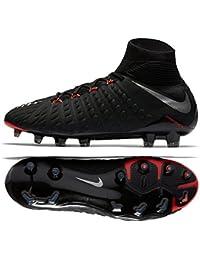 0859ac90 ... Botas de fútbol para niños · EUR 40,00 Prime. Nike Hyper Venom Phantom  III DF FG, 001 BLACK/METALLIC SILVER-BLAC,
