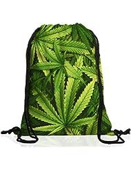 VOID Cannabis Impresión Bolsa mochila bolsos unisex gymsac música jamaica grifa bob reggae no woman marihuana