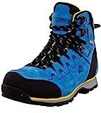 Guggen Mountain PM025 Damen Trekking-& Wanderstiefel Wanderschuhe Trekkingschuhe Outdoorschuhe wasserdicht mit Membran und Leder Farbe Blau-Gelb EU 41*