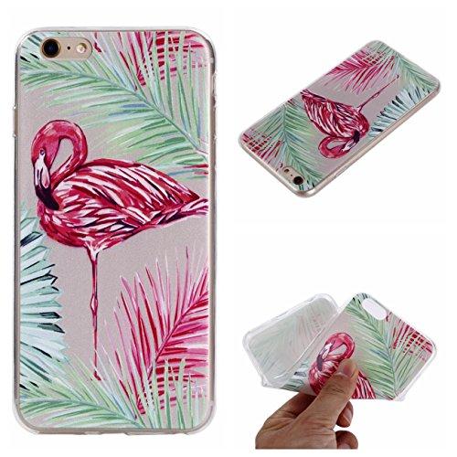 iPhone 6 Hülle, Voguecase Silikon Schutzhülle / Case / Cover / Hülle / TPU Gel Skin für Apple iPhone 6/6S 4.7(Paar Flamingo) + Gratis Universal Eingabestift Flamingo 02