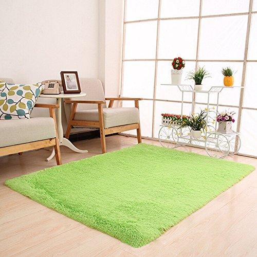artistic9(TM) flauschig Teppiche rutschsicheren Shaggy Bereich Teppich Yoga Teppich Wohnzimmer Schlafzimmer Fußmatte-80x 120cm, grün, 80 x 120cm