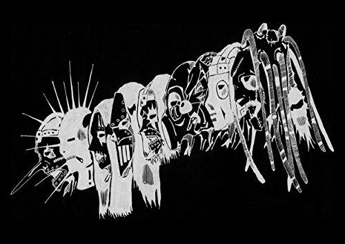 Rock/Heavy Metal-Poster in Größe A4, Slipknot, 27, Corey Taylor, Mick Thomson, Jim Root, Craig Jones, Album-Cover