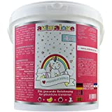 animalone - PFERDELECKERLIS EINHORN-MIX - 4 KG Eimer mit Apfel, Banane & Erdbeere - das gesunde Leckerli für Ponys, Pferde und Einhörner