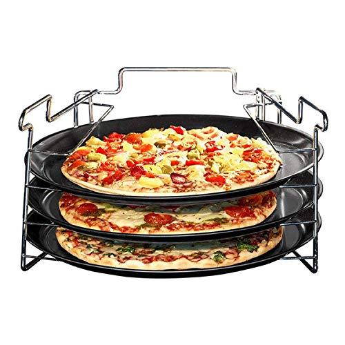 Excellent Housware Pizza Backset 3 x Backblech + Ständer