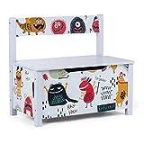 Baby Vivo Spielzeugkiste Spielzeugtruhe Aufbewahrungsbox Kinderzimmer Sitzbank Kindersitztruhe mit langsam schließendem Deckel