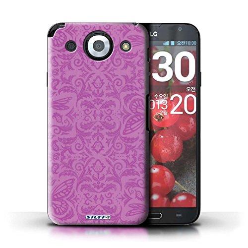 Kobalt® Imprimé Etui / Coque pour LG Optimus G Pro / Bleu conception / Série Motif médaillon Rose