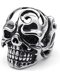AmDxD Bandas Promise Tribu Retro Cráneo gótico del Motorista del Acero Inoxidable Anillos Hombres