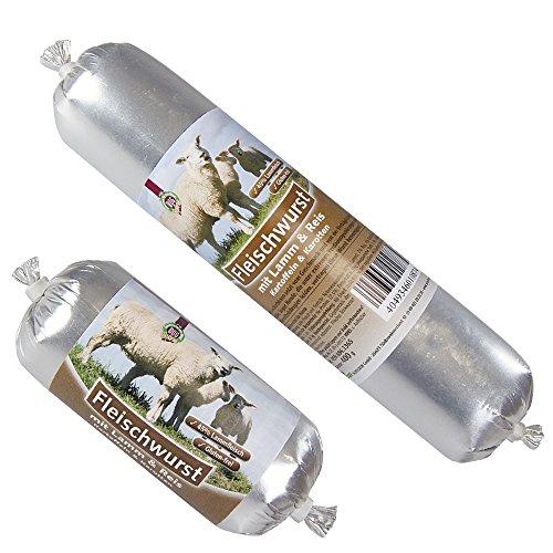 Schecker Dogreform Fleischwurst mit Lamm & Reis 12 x 400g lange Haltbarkeit auch ungekühlt