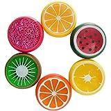 Fluffy Slime Spielzeug Von Xinan Crystal Fruit Lehm Intelligente Hand Gummi Plasticine Schleim (❤️, 6PC)