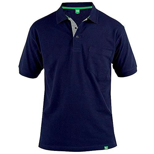 D555 Duke Kingsize Big Mens Grant Pique Polo Shirt Navy 2XL-6XL RRP £18.00 3XL Navy (Tall Poloshirt Big Herren)