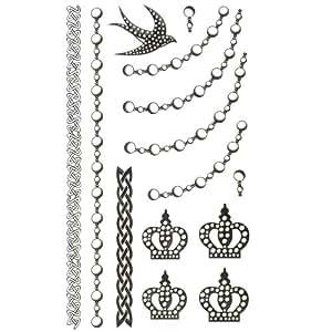 King Horse bijoux autocollant de tatouage imperméables ornements bracelet de cheville collier Bodypainting