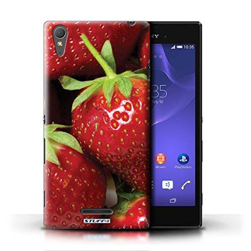 Kobalt® Imprimé Etui / Coque pour Sony Xperia T3 / Raisin conception / Série Fruits Fraise