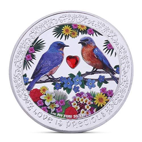 AIYIYOO Liebe Vogel Gedenkmünze Sammlung Geschenk Souvenir Kunst Metall Antiquitäten, Münzensammler, Genießen Sie die Freude an der Sammlung -