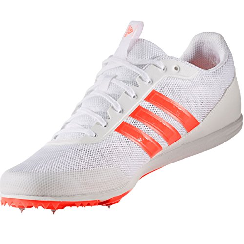 reputable site 3bd77 7649b Adidas DISTANCESTAR SPIKES, Scarpe chiodate da uomo,  WhiteSolarRedSolarRed, White