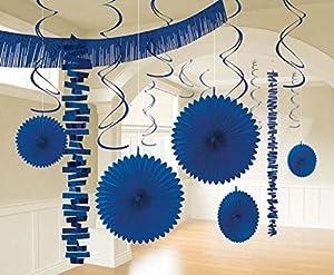 Amscan International-241700-105-55color azul brillante royal habitación decoración kit