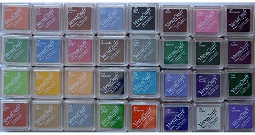 Tsukineko Versacraft / Encore - Stempelkissen, Weihnachtsfarben, 5 Stück, grün, Set Two -
