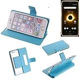 K-S-Trade® Flipcover Für Ruggear RG650 Schutz Hülle Schutzhülle Flip Cover Handy Case Smartphone Handyhülle Blau