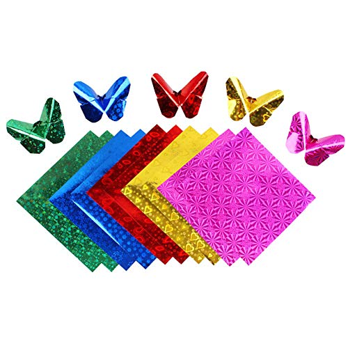 Demarkt 50x Origamipapier Faltpapier Faltblätter Origami Papier Farbe 15 * 15cm
